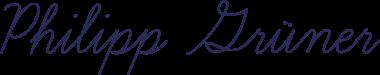 Unterschrift Philipp Grüner
